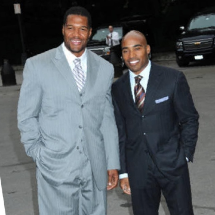 New York Giants Players in Suits