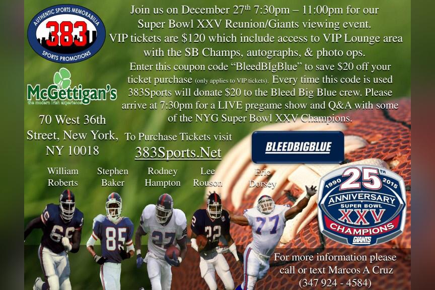 Super Bowl XXV Reunion