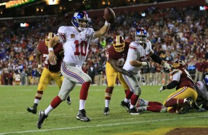 Giants Route Redskins