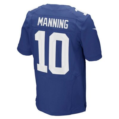 Eli Manning Nike Elite Jersey Back View