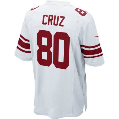 Victor Cruz Road Jersey New York Giants Nike Game Jersey Away White | Back