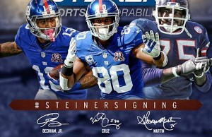 MEET New York Giants Victor Cruz, Odell Beckham Jr., and George Martin 11/24 courtesy of Steiner Sports.