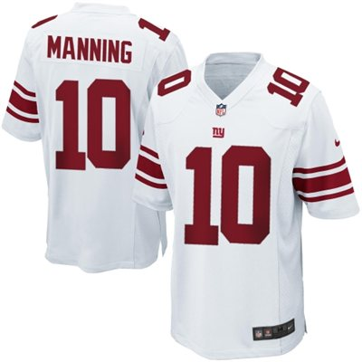 Eli Manning New York Giants Nike Game Jersey White