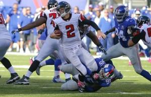 The New York Giants Take On Atlanta