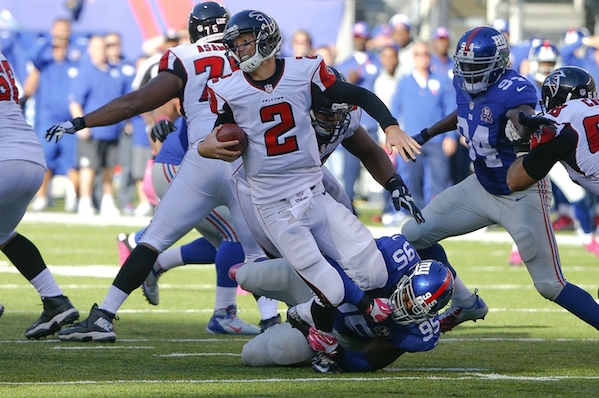 The New York Giants Take On Atlanta