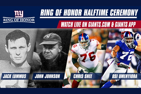 Giants Ring of Honor Inductees 2015