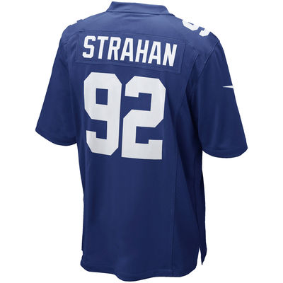 Michael Strahan Home Jersey Made by Nike | Back