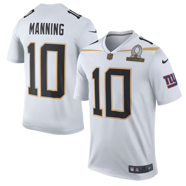 Eli Manning Pro Bowl Jersey Team Rice White