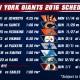 New York Giants 2016 Schedule Released