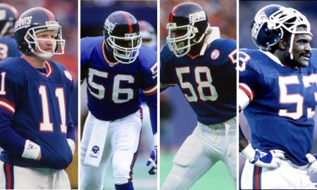 37th Annual National Sports Collectors Convention, Lawrence Taylor, Phil Simms, Harry Carson and Carl Banks