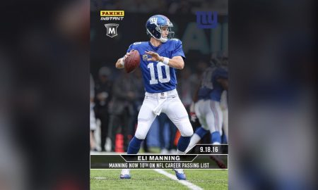 Panini America To Release Eli Manning Trading Cards