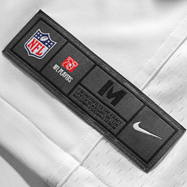 New York Giants Road / Away White Jersey Nike Game Tag