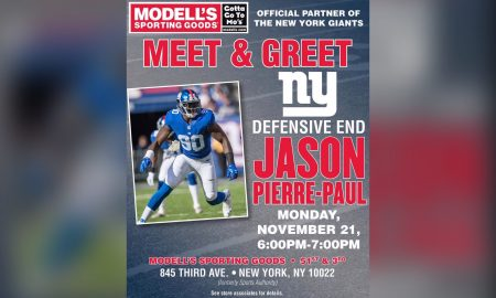 Jason Pierre-Paul Meet and Greet Hosted By Modell's Sporting Goods