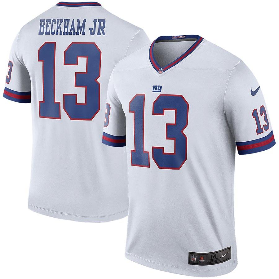 Men's Nike Odell Beckham Jr White New York Giants Color Rush Legend Jersey