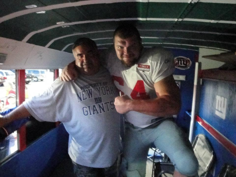 David Baas & Pat in the Blu Bus
