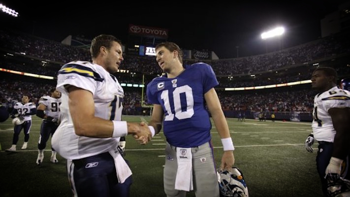 Eli Manning and Phillip Rivers