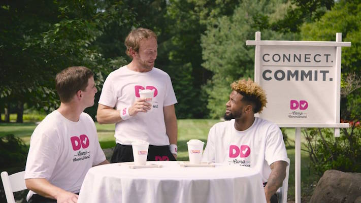 Eli Manning And Odell Beckham Jr Star in Dunkin Donuts Camp Commitment Commercial