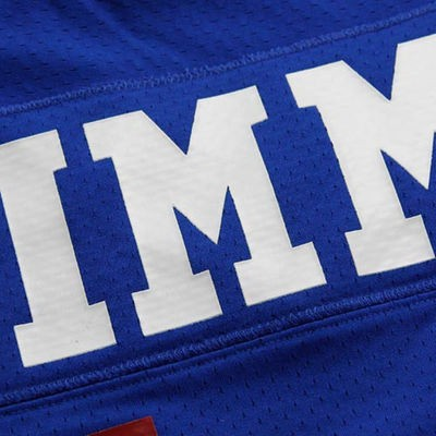 Phil Simms Mitchell & Ness Jersey | Lettering Back