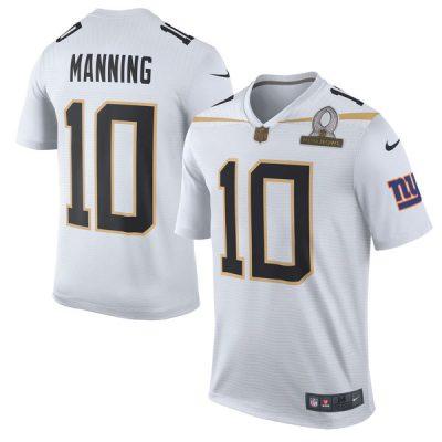 Eli Manning Pro Bowl Jersey Team Rice White