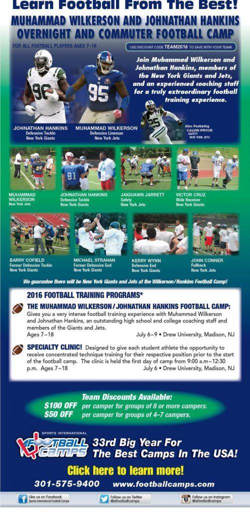 2016 Muhammad Wilkerson and Johnathan Hankins Football Camp