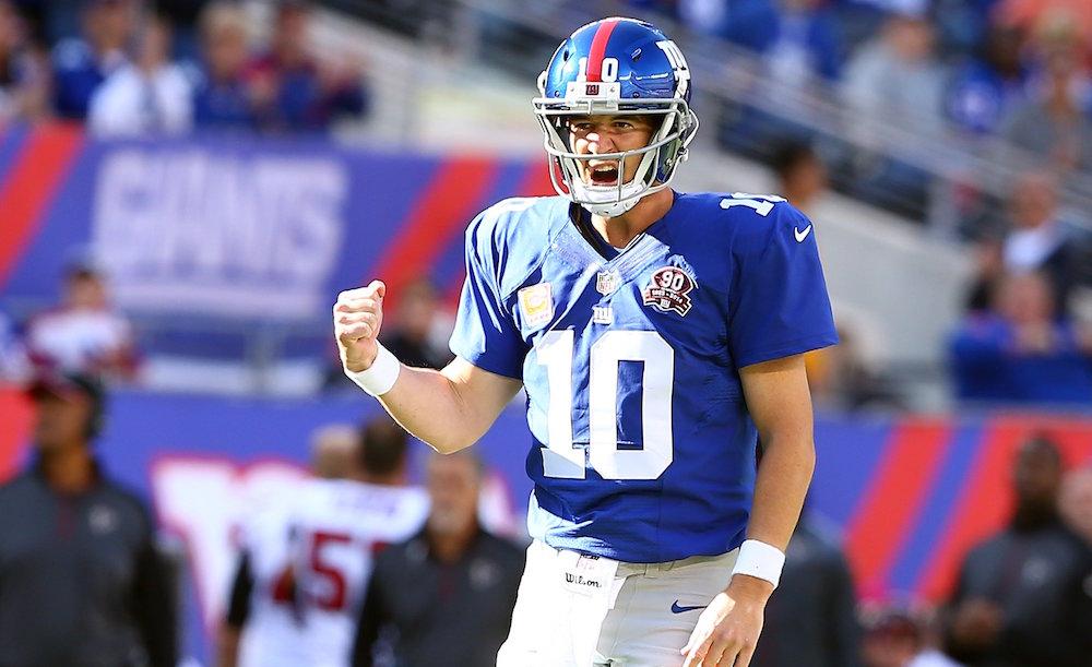 Giants Offense On Eli's Shoulders