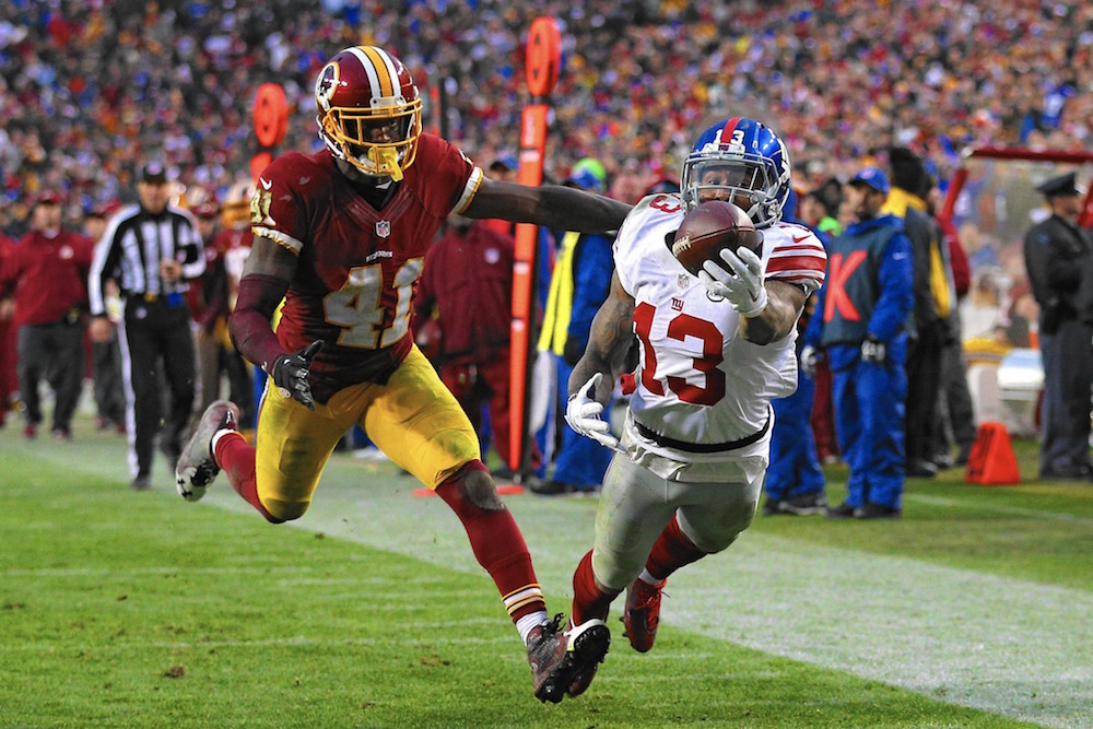 Quick Notes September 25, 2016 Giants vs Redskins