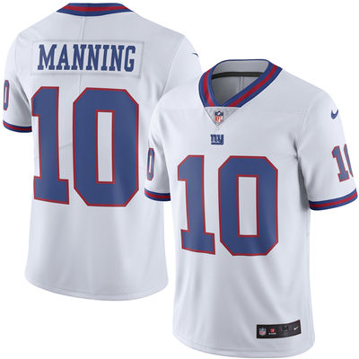 Eli Manning Jr New York Giants Color Rush Jersey (White - Limited)