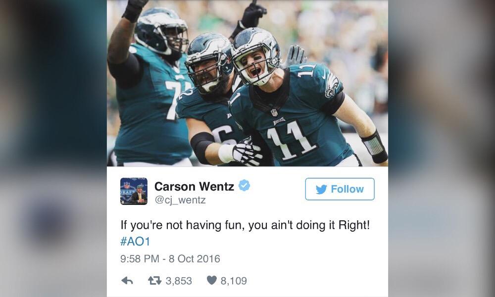 Carson Wentz trolls Odell Beckham Jr.