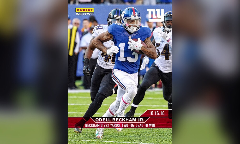 Panini America new Odell Beckham trading cards