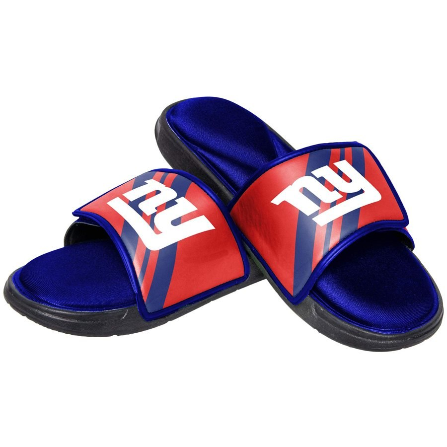 Men's New York Giants Foam Sports Slide Flip Flops