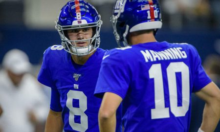 Daniel Jones ruled out by Giants.