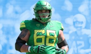 The New York Giants Select Shane Lemieux From Oregon With The 150th Pick In The 5th Round of The 2020 NFL Draft.
